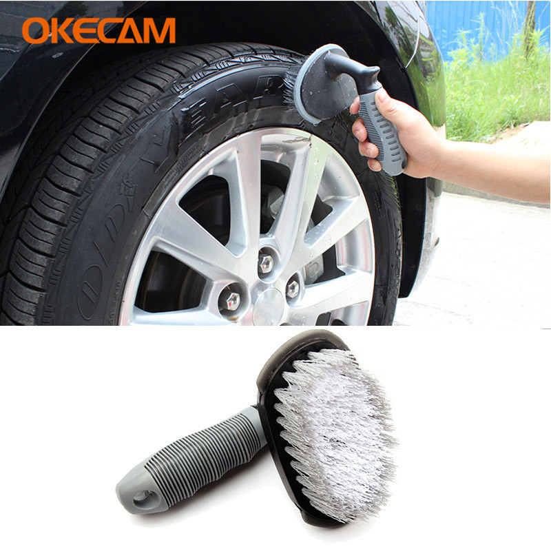 Car Wheel Tire Cleaning Brush for Volvo XC90 S60 XC60 V70 S80 S40 V50 V40 C30 Vida Dice V60 850 940 V90 S70 C70 XC70 S90 Rdesign