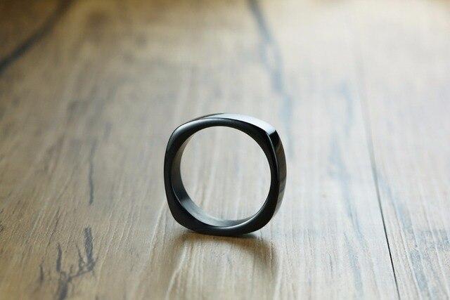 Модные модные кольца 7 мм из нержавеющей стали черного золотого