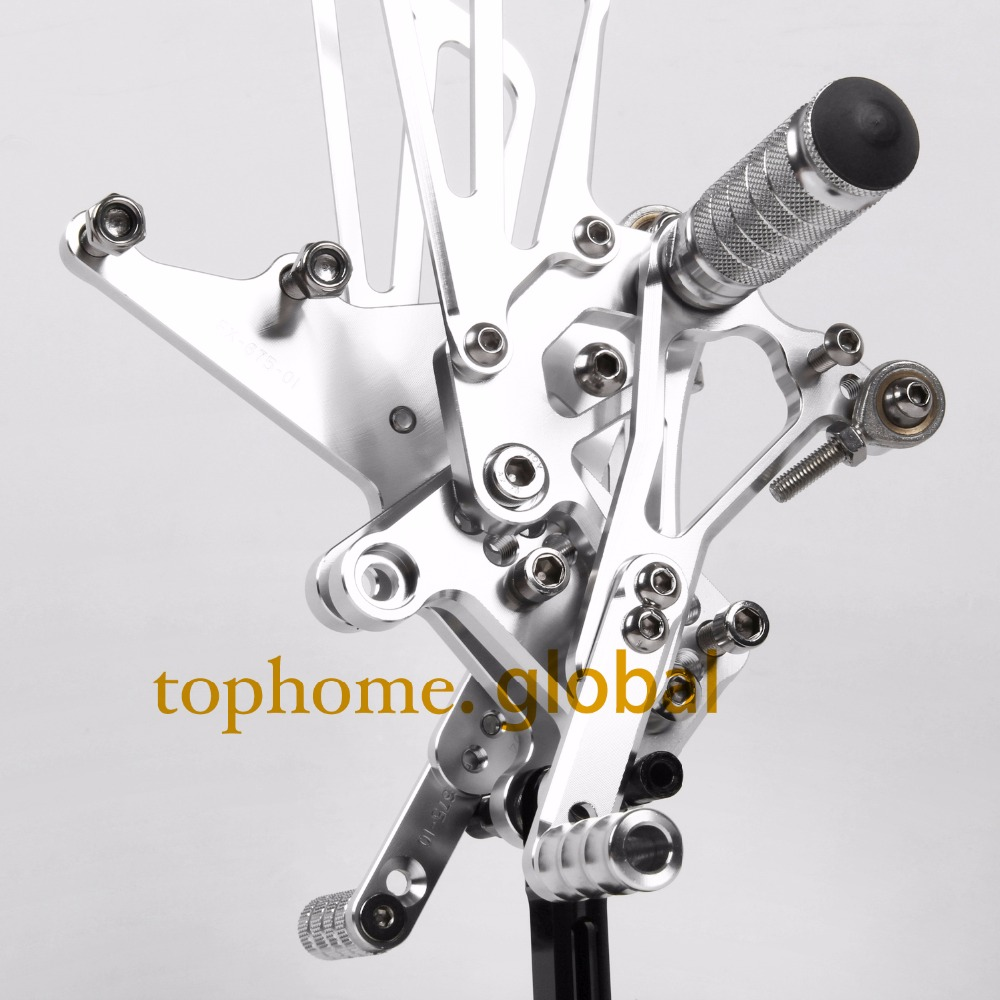 For Triumph Speed Triple 1050 2005 2010 Rearsets Foot Pegs Footpeg Rear Brake Shift Adjusting CNC