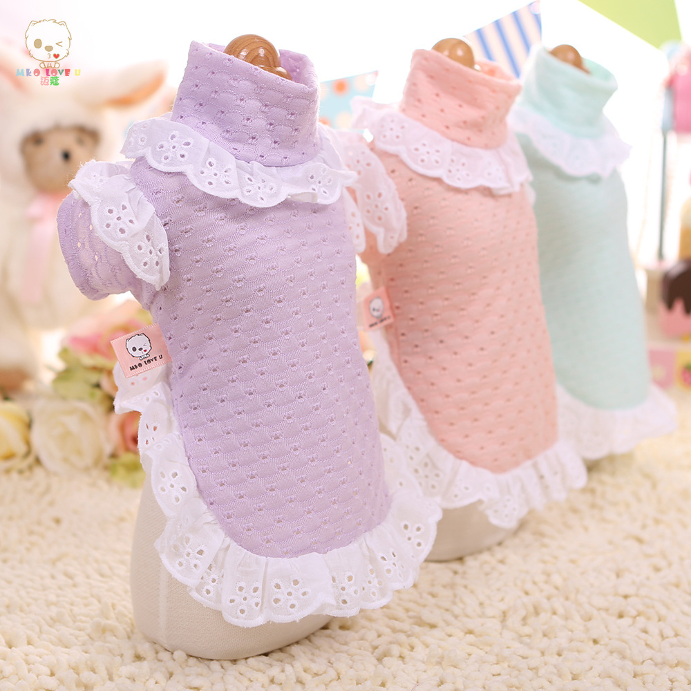 Exquisite Dog Clothes Fall and Winter Teddy VIP Than Bear Yorkshire Pet Dog Macarons Bottoming Shirt Fashion Pet Supplies in Dog Coats Jackets from Home Garden