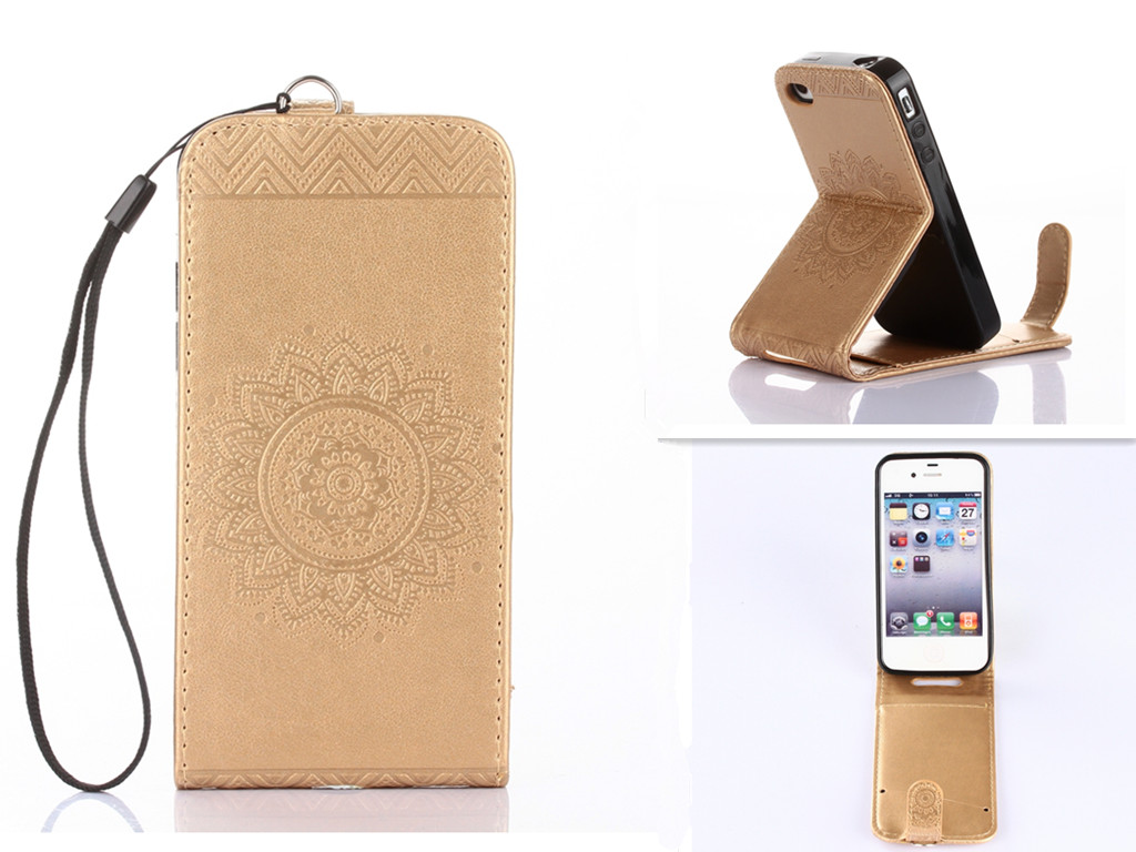Gold Embossing PU Leather Wallet <font><b>Stand</b></font> <font><b>Flip</b></font> <font><b>up</b></font> and down <font><b>Flip</b></font> New <font><b>Case</b></font> <font><b>Cover</b></font> Lines For <font><b>iPhone</b></font> <font><b>5</b></font> 5s <font><b>Case</b></font>