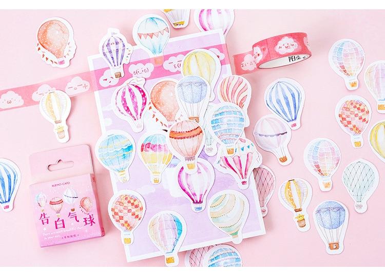 Купить с кэшбэком 46PCS/PACK Kawaii Cute Pink Balloon Sticker Marker Planner DIY Diary Decorate School Stickers Scrapbooking Bullet Journal sl1807