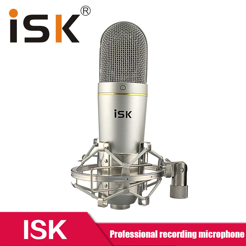 Original ISK S400 professional Studio Condenser Microphone for recording music, ADR work, Sound Foley, audio for YouTube videos
