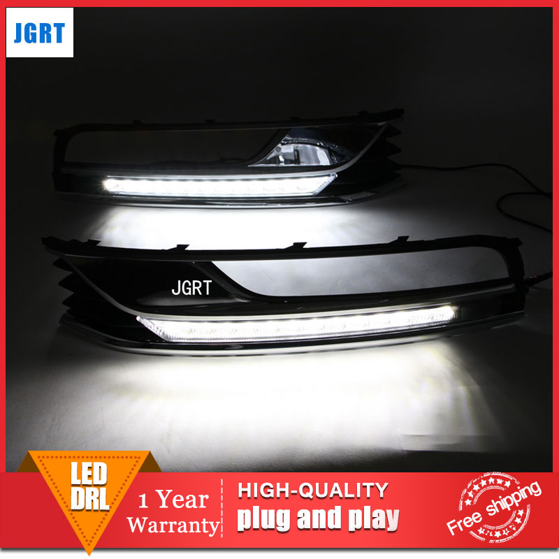 car styling 2011-2014 For VW Magotan LED DRL For Magotan led fog lamps daytime running light High brightness guide LED DRL for lexus rx gyl1 ggl15 agl10 450h awd 350 awd 2008 2013 car styling led fog lights high brightness fog lamps 1set