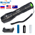 T6 9000LM LED Flashlight Zoom Torch waterproof 5 mode camping working light Lamp For 3x AAA or 18650 Battery dropshipping