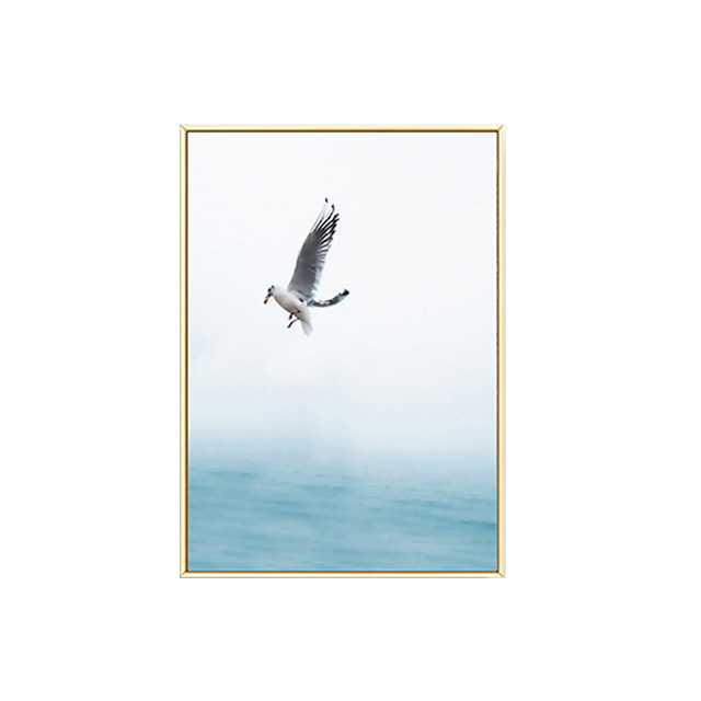 HTB1BEN2XzzuK1Rjy0Fpq6yEpFXaE Gohipang Blue Sea And Sky Nordic Landscape Canvas Painting Free Seagull Waves Beach Art Poster Living Room Decor Seabirds Wall