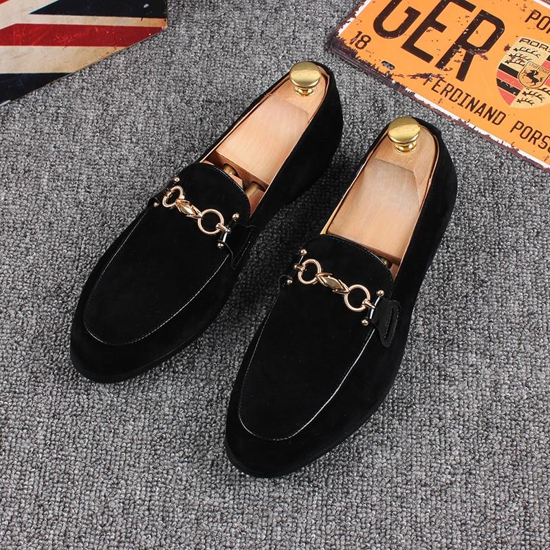 03 Hombres Negro Mocasines Zapato Los Cuero Casual 2018 De Hombre Zapatos 02 En 01 Resbalón Gamuza xw67Sqn