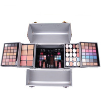 MISS ROSES shimmer matte eyeshadow palette makeup suit cosmetic bag Professional makeup box with brush lipgloss lipstick blusher