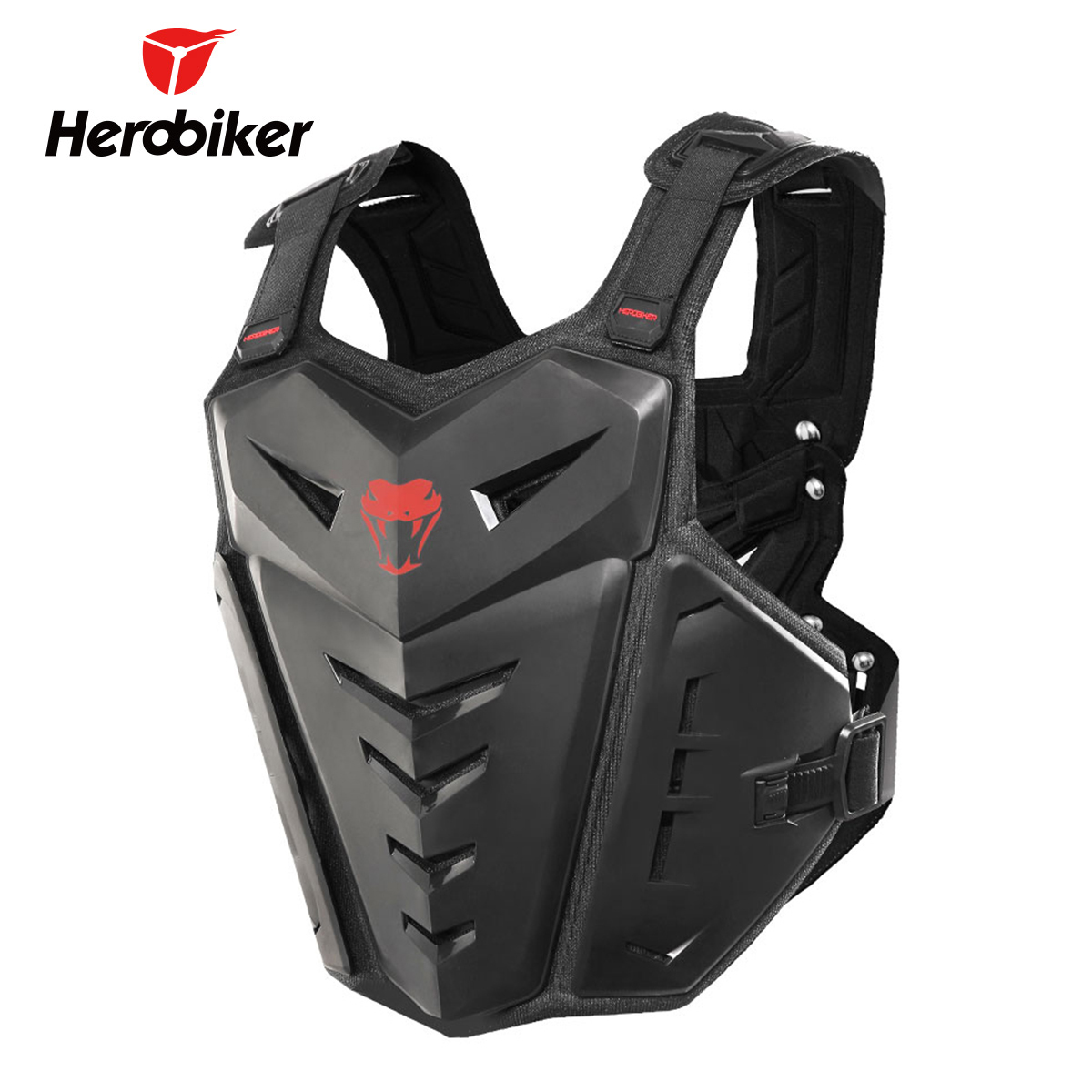 HEROBIKER Motorcycle Body Armor Moto Motocross Vest Motorcycle Armor Vest Back Chest Protector Motocross Armor Protective Gear herobiker armor removable neck protection guards riding skating motorcycle racing protective gear full body armor protectors