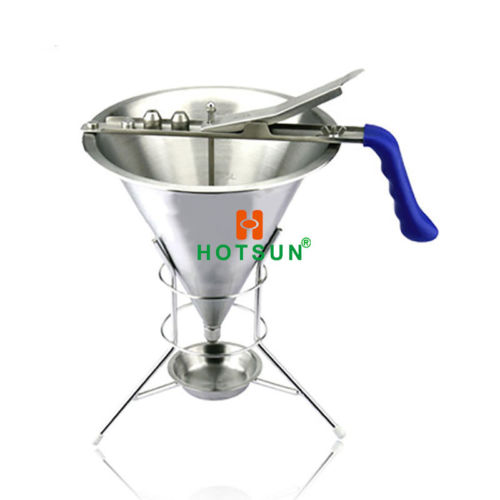 Free Shipping Stainless Steel Confectionery Dispenser Funnel with 2mm 4mm 6mm nozzles