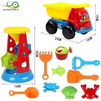 MYHOESWD Summer Baby Beach Toys Sandbeach Wheel Watering Outdoor Beach Play Bath Toys For Children Toy Engineering Vehicle Kids