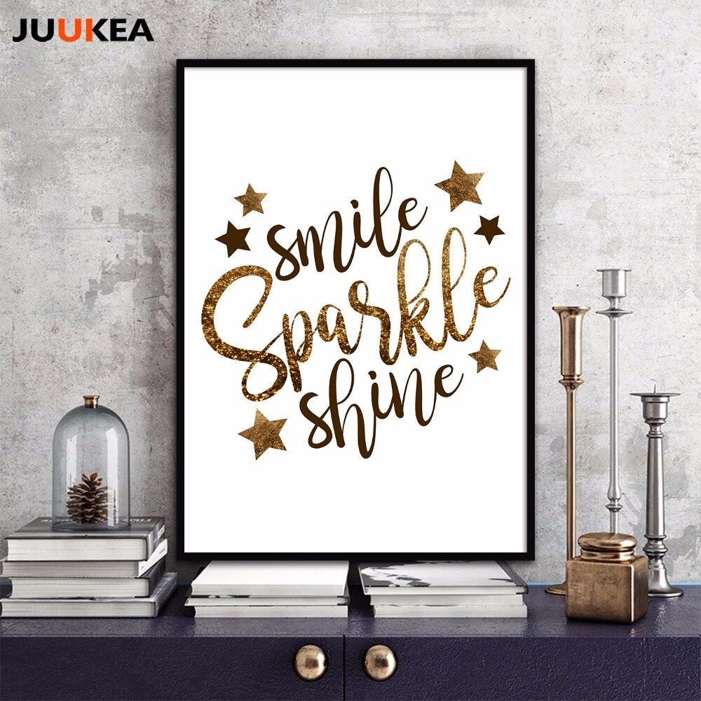 The Golden Stars Smile Sparkle Shine Glitter English ...