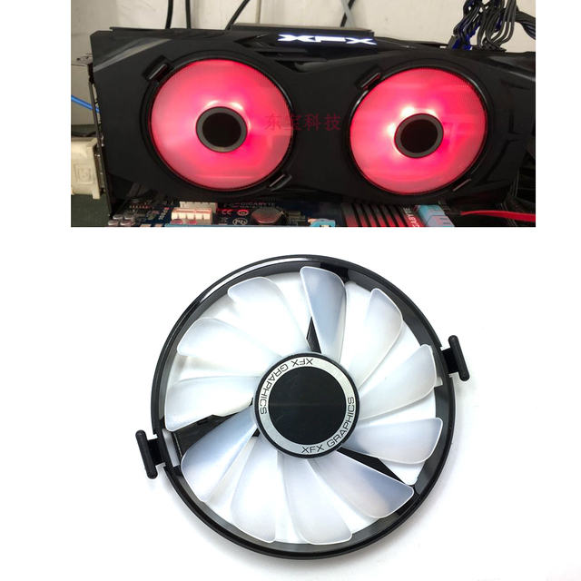 New FDC10U12S9 C PC Cooler Fan Replace For XFX AMD Radeon R7 370 RX 470 480 570 580 RX460 RX 460 Graphics Card GPU Cooling Fan