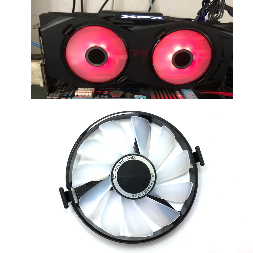 New FDC10U12S9-C PC Cooler Fan Replace For XFX AMD Radeon R7 370 <font><b>RX</b></font> <font><b>470</b></font> 480 570 580 RX460 <font><b>RX</b></font> 460 <font><b>Graphics</b></font> <font><b>Card</b></font> GPU Cooling Fan image