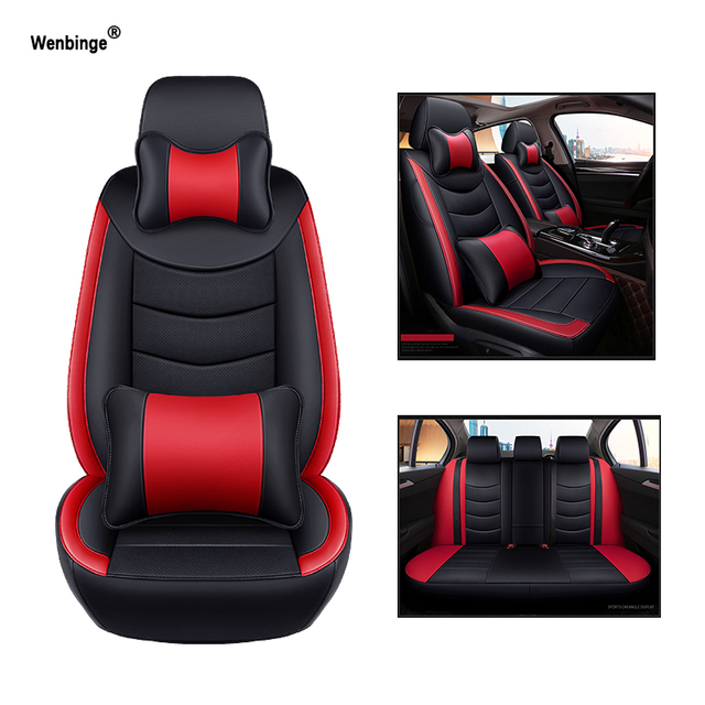 Wenbinge Cowhide Leather Car Seat Cover For Acura MDX RDX