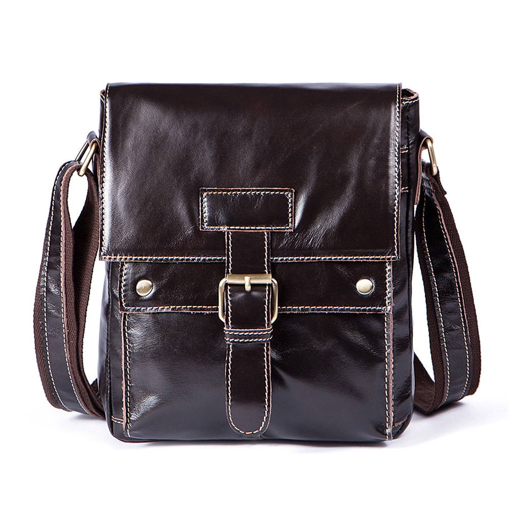 Real Genuine Leather Messenger Bag Men Casual Cover Mens Shoulder Crossbody Bag Teenager Boys Travel Cross Body Business Totes