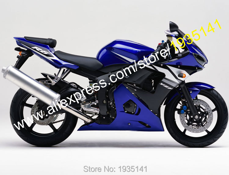 Hot Sales,Body Work For Yamaha 2003/2004 YZF-R6 03/04 YZFR6 YZF R6 YZF600 Blue-Black-White Motorbike Fairing (Injection molding)