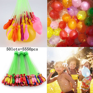 50lots Water Bomb Balloons Magic Filling Kits Kids Children Pool Ballon Toy Prank Game Summer Outdoor Beach Ball Toy Adult Party