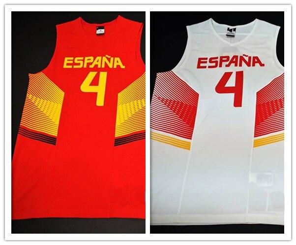 ... free shipping 2014 team spain basketball jersey 4 pau gasol espana  basketball cemisetas for spain basketball 1ffff24ae