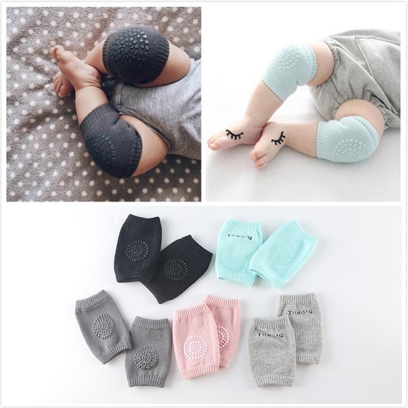 6-24M Baby Knee Pads Crawling Protector Cotton Kids Kneecaps Children Short Cartoon Baby Grils Boys Leg Warmers 2017 New Fashion