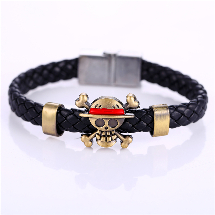 Anime One Piece – Weave leather bracelet