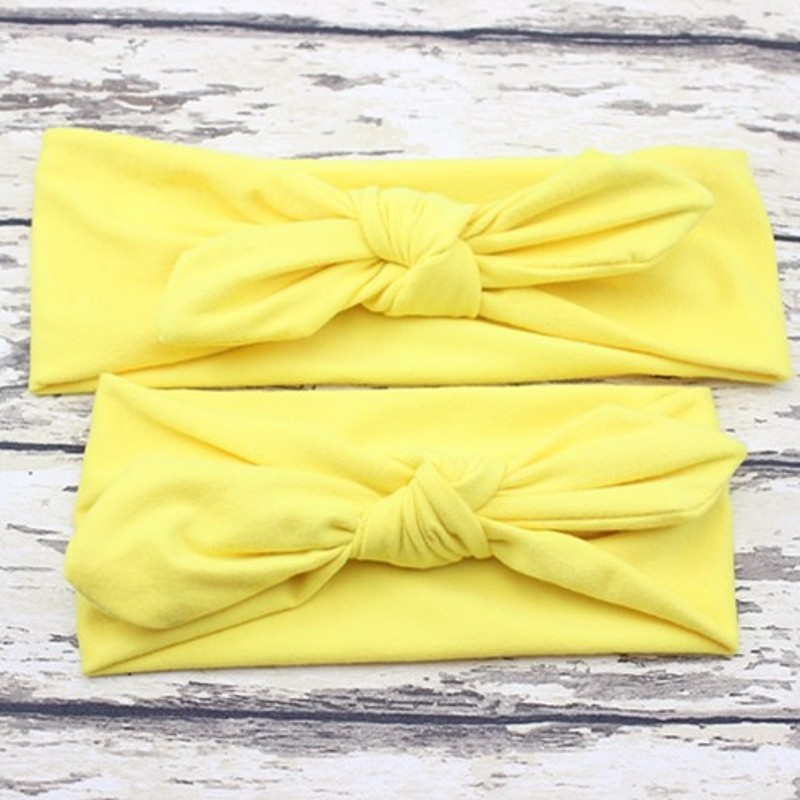 Mommy and Me Headband mother and daughter outfits hair bow tie elastic hair band headband mom rabbit ears hairband set 70cm ladies wigs ice and fire song dragon mother synthetic hair