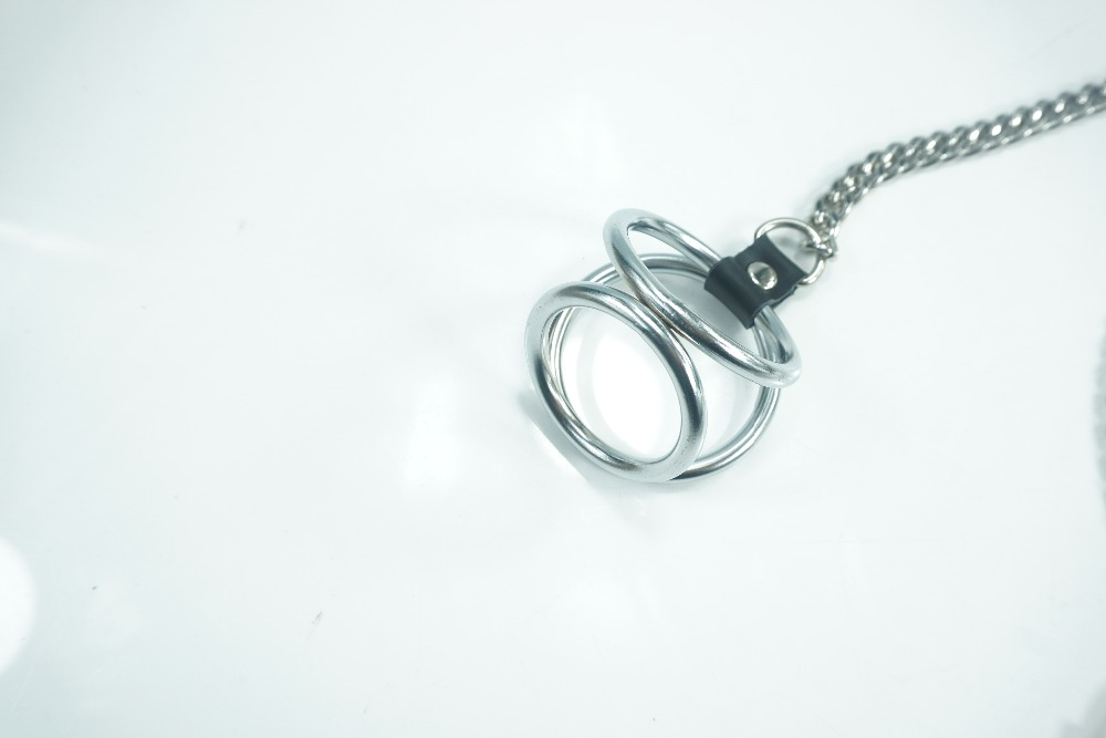 Penis cock ring connection nipple clip with long chain Stainless Steel Clamps breast Bondage Restraints Fetish sex toy for men