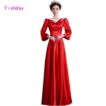 2017 Red Long Sleeve Purple Royal Blue Dubai Kaftan Plus Size Vestido Muslim Mother of the Bride Evening Dresses For Women A20(China)
