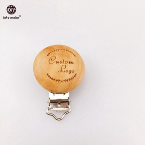 Image 5 - Lets Make Pacifier Clip 50pc Round Wooden Engrave Customizable Personalise Wooden Dummy Clip Accessory Baby Teether 29*35mm
