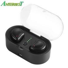 AMTERBEST Mini Bluetooth 4.1 Earphones Headset True Wireless Earbuds Stereo In E