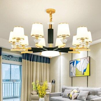 Candelabro de cristal LED moderno lámparas suspendidas para sala de estar  accesorios de iluminación para comedor luces colgantes para dormitorio >>  ...