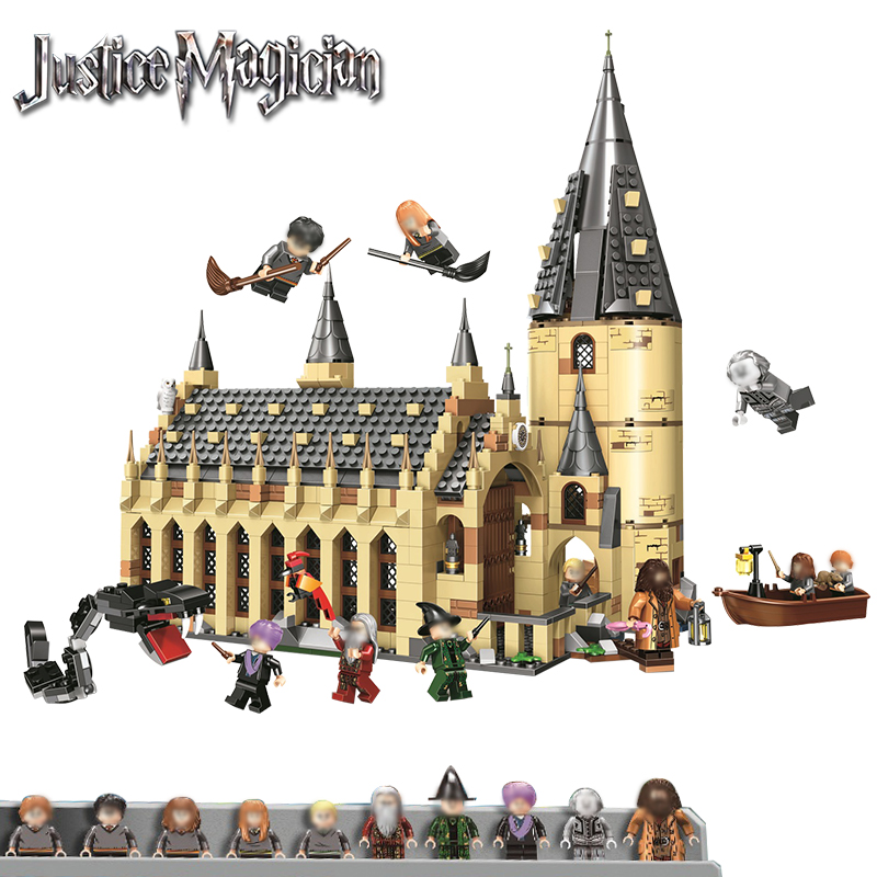 Harry Potter Serices Hogwarts Great Hall Compatibility Legoing Harry Potter 75954 Building Block Toys Bricks 2019 Christmas gift legos for boys ninjago