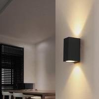 6pcs Outdoor Waterproof LED Wall Lamps IP65 AC85-260V With 2pcs*3W LED Bulbs Aluminum Courtyard Garden Porch Corridor Lights