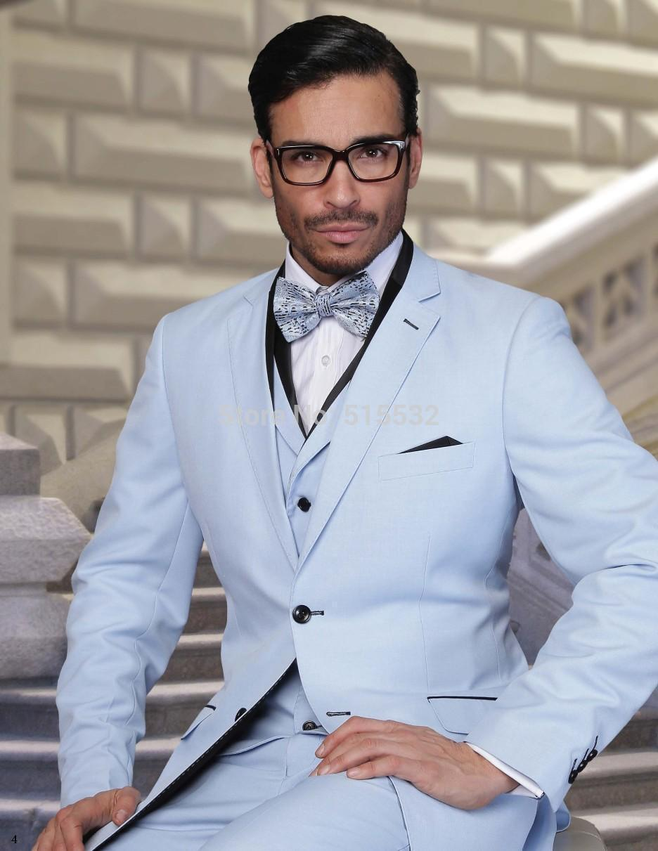 Mens Pale Blue Suit Dress Yy