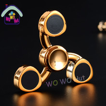 Tri-Spinner Fidget Toys EDC Hand Spinner Metal Fidget Spinner For Autism and ADHD Adults Children Educational Kids Toys Hobbies