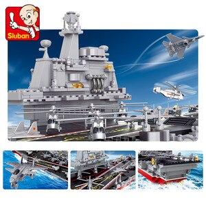 Image 3 - 1059Pcs Military Creator Building Blocks Sets ARMY 1:450 Aircraft Carrier Cruiser Warship Juguetes Weapon Educational Kids Toys