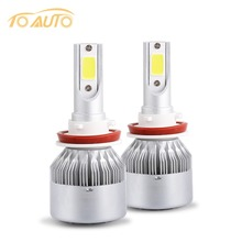 76W/Pair Cob Chip H8 H11 Car Led Headlights Auto Leds Headlight Bulb 7600lm 36V Automotive Fog Lamp Light Bulb replace halogen