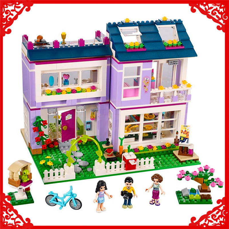 731Pcs Friends Series Emma's House Model Building Block Toys LEPIN 10541 Educational Figure Gift For Children Compatible Legoe lepin 07045 batman series racing car building block 559pcs diy educational toys for children compatible legoe
