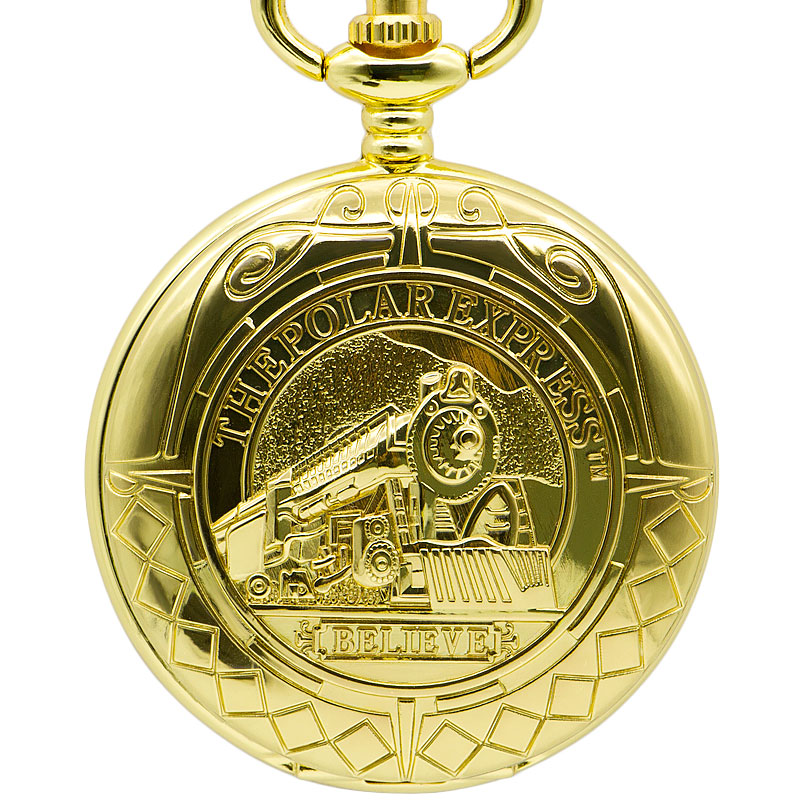 Luxury Gift Gold Mens Pocket Watch Vintage Necklace Pendant Watch Mechanical Antique Fob Watches Roman Number Clock Pocket