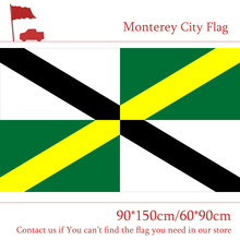 3x5ft Digital Print 100d Polyester Monterey City Flag US State of California 90*150cm 60*90cm For Campaign Vote Office