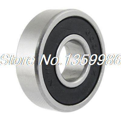 10 pcs 6001RS Shielded Deep Groove Radial Ball Bearings 12x28x8mm Silver Tone