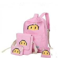 Холст рюкзаки для девочек прекрасные школьные рюкзаки для девочек-подростков с принтом Рюкзак Комплект Зеленая мята школьные сумки HY-323
