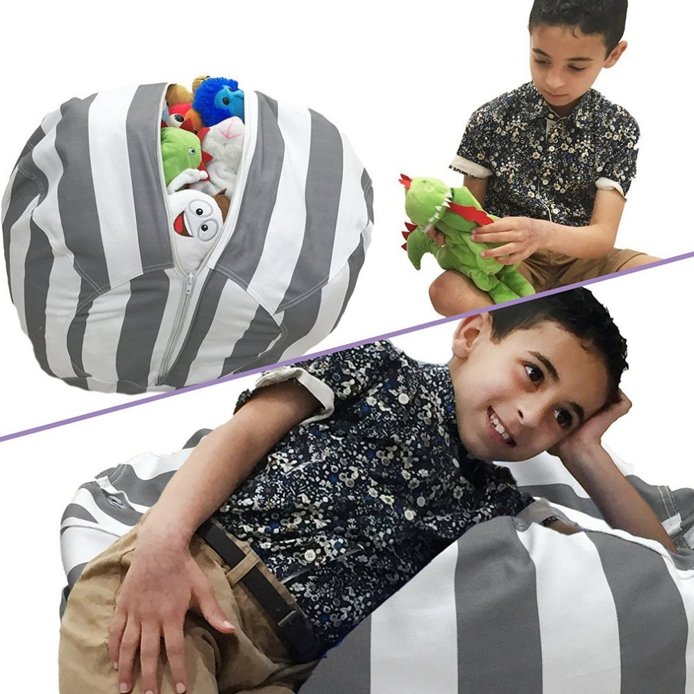 Large Bean ChairToy Storage Bags Chair Portable Kids Toy Storage Bag & Play Mat Clothes Organizer Tool 55cm/ 80cm Brief Style