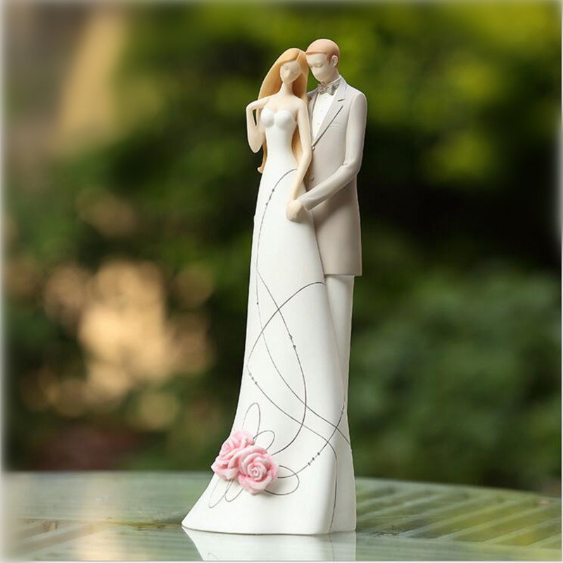 Wedding Figurines Gifts: Sweet Love Wedding Groom And Bride Figurines Gift,New