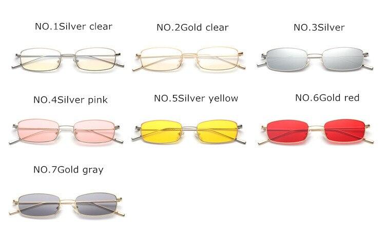 2fcd247410625 YOOSKE Novo Pequeno Quadrado de Óculos De Sol Das Mulheres Dos Homens Do  Metal Do Vintage Óculos de Sol Feminino Doces Coloridos Óculos de Lente  UV400