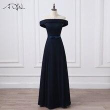 ADLN Simple Long Evening Dresses Elegant Off the Shoulder Women Wedding Party Dresses Floor Length New Designer