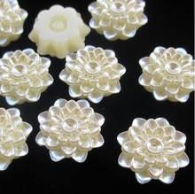 ABS Imitation Perle Weiß Farbe blume 20mm DIY Halbe Runde Simulierte Perle Perle Flache Rückseite Handwerk Zubehör DIY