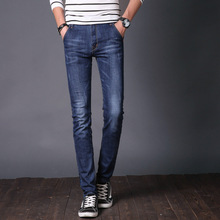 Europe and America hot selling slim pencil jeans for boys New Design High Quality Fashion Slim Fit Elasticity Jeans For Men