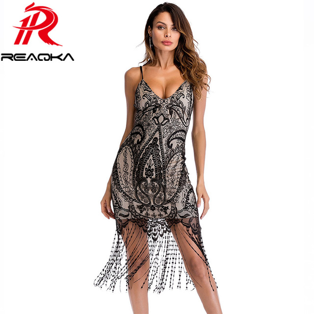 9d2349b8b01 2018 New Summer Elegant Black Lace Maxi Beach Dress Women Sleeveless  Backless Tassel Sundress Sexy Slim Evening Party Dress