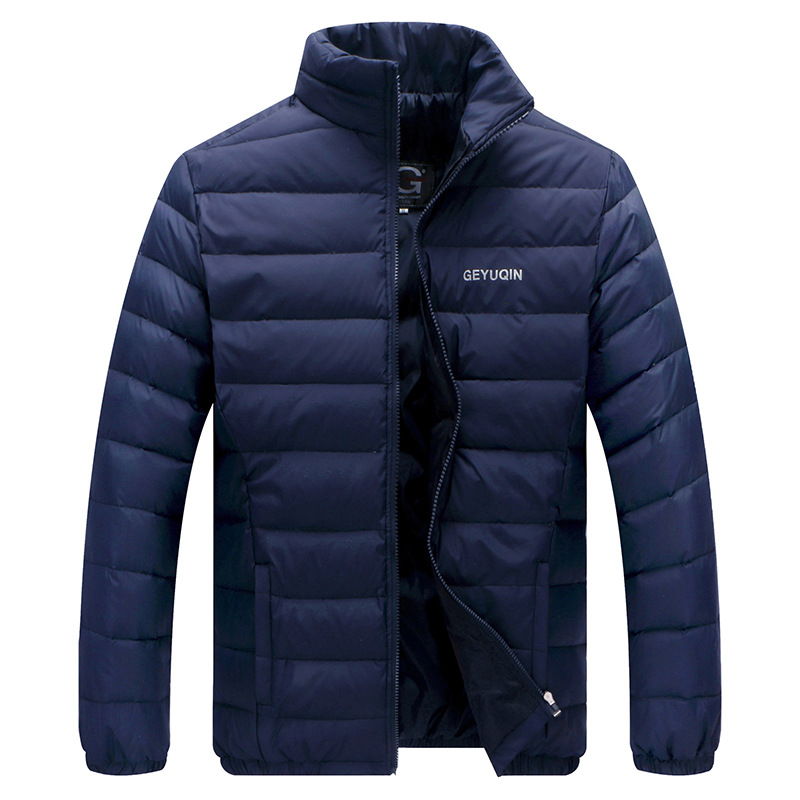 Jackets   Coats   Winter   down   jacket thin men's stand collar   down   jacket middle-aged Plus-sized Jacket   down     coat   men